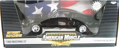1968 Ford Mustang GT Street Machine - Black (Ertl American Muscle) 1/18