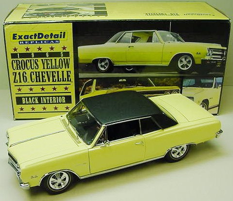 1965 Chevy Chevelle SS 396 Z16 - Crocus Yellow (Lane Exact Detail) 1/18