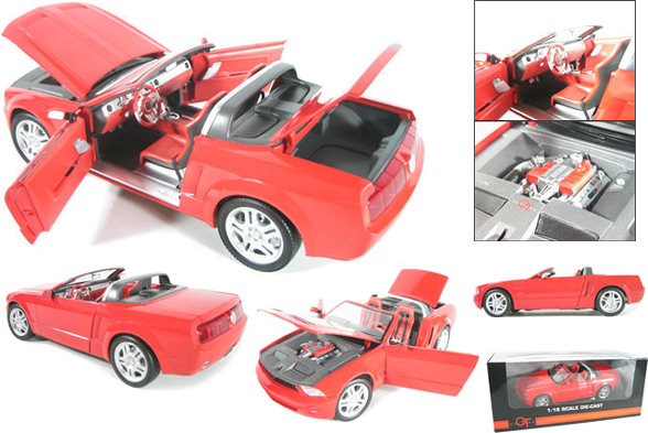 2005 Ford Mustang GT Concept Convertible - Red (Beanstalk) 1/18