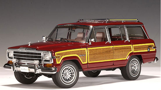 jeep grand wagoneer red autoart  diecast car scale model